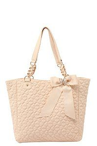 betsey johnson ivory quilted love tote. perfect Valentine's day gift! :)