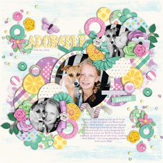 Used the following from the Sweet Shopp:  *NEW* Template - Trio Pack 25: Circle Crazy 3 by Cindy Schneider *NEW* For the Love of Summer by Becca Bonneville and Digital Scrapbook Ingredients