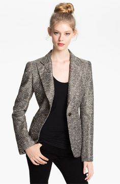 Mcginn 'Clara' Textured Single Button Blazer available at #Nordstrom