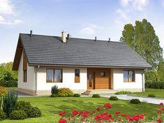 Projekt domu parterowego Bianco o pow. 109,96 m2 z dachem dwuspadowym, z tarasem, sprawdź! Home Fashion, Ideas Para, Gazebo, House Plans, Cozy, Outdoor Structures, Cabin, House Styles, Home Decor