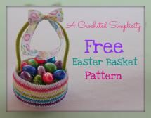 10 FREE Crochet Easter Basket Patterns: Striped Crochet Easter Basket in Three Sizes