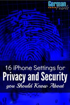Important iPhone security settings you should be using now! And even if you don't use these privacy settings you should know about them.