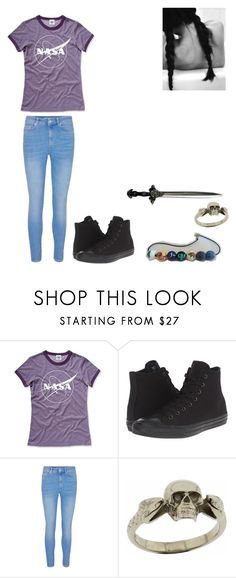"""outfit"" by iridianquevedo ❤ liked on Polyvore featuring Hank Player, Converse and Metal Couture"