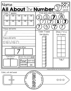 Numbers 1-20 activity sheets! So many DIFFERENT ways to learn and master numbers! I LOVE the WEARABLE number word watch at the bottom!