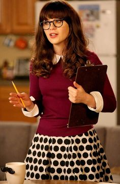 Jess Day wore an Alice + Oliva Porla Sweater and French Connection Fast Sylvie Spot Skirt on New Girl. Shop it: http://www.pradux.com/tv/new-girl/season/3/episode/22