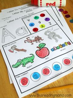 Free Letter a Worksheet Example from Alphabet Worksheets Pack   This Reading Mama