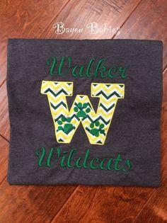 School Spirit Shirt by BayouBabiesToo on Etsy, $25.00