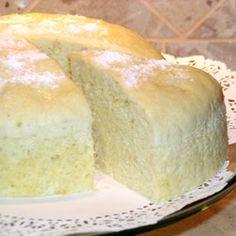 Sponge Cake Used 3/4 c sugar and 1 teaspoon vanilla extract