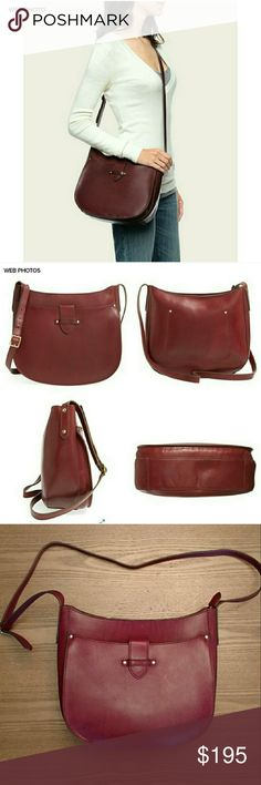 """New FRYE Casey Saddle Crossbody Bag Modern minimalism and vintage sophistication merge in a structured, equestrian-inspired crossbody bag shaped from smooth leather and accented with goldtone stud hardware. - Adjustable crossbody strap - Exterior features 1 slip pocket with magnetic-tab closure - Interior features 1 wall pocket - Approx. 10"""" H x 11"""" W x 5"""" D - Approx. 20.5-22"""" strap drop New, info card included.  A few faint scuffs, present at purchase. Marking on inside pocket to prevent…"""