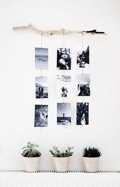 No More Ugly Blog | TIPS AND INSPIRATION ON HOW TO DISPLAY YOUR PHOTOS AT HOME | Hang your photos with a bar and clip