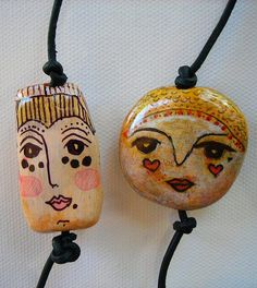 Sculpey beads - idea: add to rocks with holes from Mexico!!!!