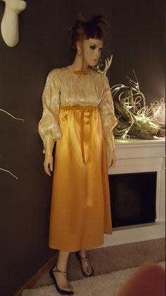 Ladies Vintage Gold & Metallic Holiday Formal by EmmasGraceVintage