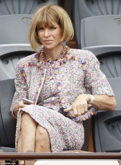Anna Wintour in Chanel at the French Open.