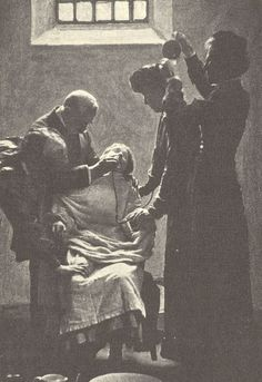 A suffragette (possibly Emmeline Pankhurst) on a hunger strike, being forcibly fed with a nasal tube at HM Prison Holloway, Islington, London, ca. Sylvia Pankhurst, Emmeline Pankhurst, Women In History, British History, American History, Modern History, Ancient History, Native American, Les Suffragettes