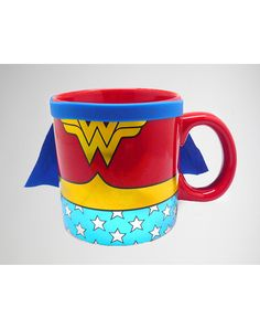 Party points to ME! I just found the Wonder Woman Caped Mug from Spencer's. Visit their mobile website to get this item and more like it.
