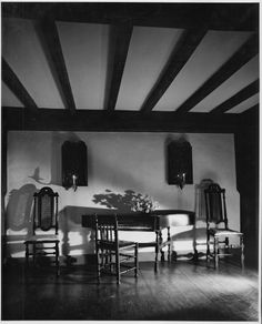 Piano and Chairs / Andre Kertesz / 1951 / at the Winterthur Museum