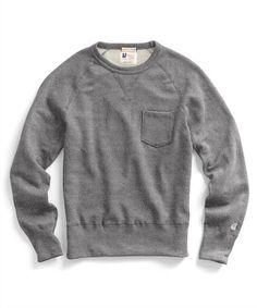 Pocket Sweatshirt in Salt and Pepper