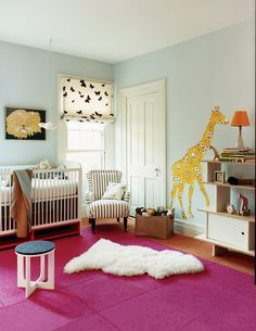 Create a giraffe silhouette from vintage wallpaper | domino.com