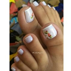 30 Fotos de Unhas dos pés decoradas com flores Nail Drawing, Nail Bar, 30, Make Up, Photo And Video, Nails, Drawings, Pedicures, Beauty