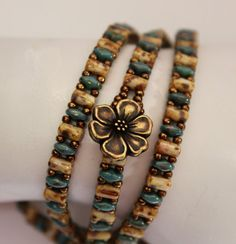 Trendy Rulla and SuperDuo Multi Wrap Bracelet by ReggiesCreations