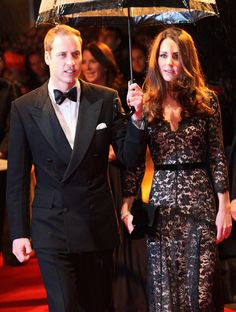 Prince William, Duke of Cambridge and Catherine, Duchess of Cambridge attend the UK premiere of War Horse at Odeon Leicester Square on January 8, 2012 in London.