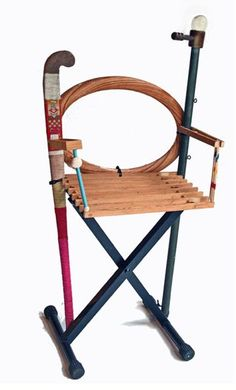 Chair created using junk and found objects. ++ Other nice wood creations on Amy Hunting website !