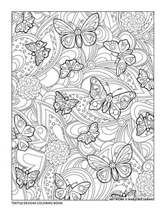 "Creative Haven Textile Designs Coloring Book by Marjorie Sarnat, ""Pattern"""