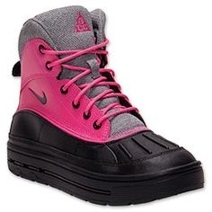 Girls' Gradeschool Nike Woodside Boots| Finish Line | Pink Foil/Black/Cool Grey