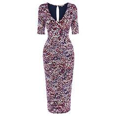Buy Wishbone Watermark Print Dress, Multi Online at johnlewis.com £75