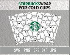 Logo Starbucks, Starbucks Cup Art, Custom Starbucks Cup, Starbucks Halloween, Halloween Cups, Fall Halloween, Personalized Starbucks Cup, Personalized Cups, Cricut Svg Files Free