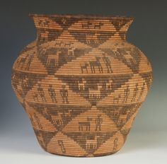 """Apache Olla with Figures & Horses. Ht. 19"""" W 19"""""""