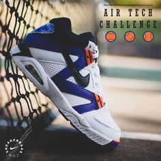 sale retailer d83e1 95682 Nike Air Tech Challenge - The Air Tech Challenge OG was one of the first  iconic signature sneakers by Andre Agassi. This OG colorway has a white  leather ...