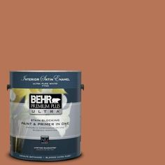 BEHR Premium Plus Ultra Home Decorators Collection 1-gal. #HDC-AC-06 Campfire Blaze Satin Enamel Interior Paint-775301 at The Home Depot