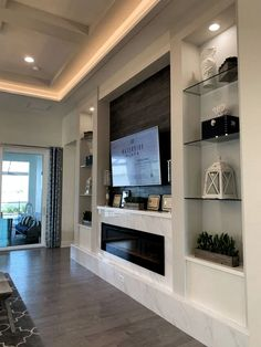 Over 37 amazing TV unit design ideas for your living room . - Over 37 amazing TV unit design ideas for your living room – TV Stand Design Ideas – # room - Modern Living Room Colors, Small Living Rooms, Rugs In Living Room, Living Room Modern, Living Room Decor, Living Room Ideas With Tv, Modern Tv Wall, Cozy Living, Home Fireplace