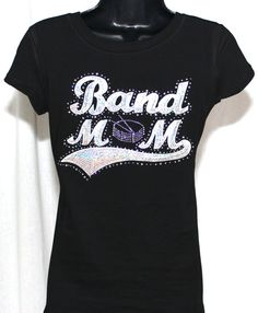 810dbfa5 Band Mom Ultimate Sequins and Rhinestone Bling T-Shirt (Size Fitted LG)