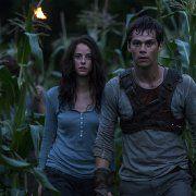 Still of Kaya Scodelario and Dylan O'Brien in The Maze Runner (2014)