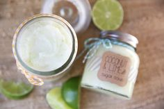 The BEST Coconut-Lime Sugar Scrub.  It's like rubbing yourself down with a tropical vacation :)