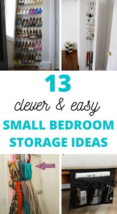 Are you stuck living in a bedroom the size of a shoebox?! You need these mind-blowing small bedroom storage ideas for organizing your room! These bedroom organization ideas are perfect for women, teens, and couples. DIY these space-saving ideas on a small budget. I love these storage solutions for small bedrooms. Small Bedroom Organization, Small Bedroom Storage, Small Space Storage, Small Room Bedroom, Organization Ideas, Diy Bedroom, Trendy Bedroom, Extra Storage, Bed Room