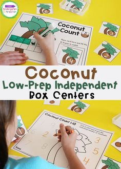 FREE Coconut Counting Math Activity for Kindergarten #kindergarten #prek #mathcenters #kindergartenmath