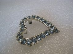 """Vintage Silver Tone Heart Pendant, signed Sarah Coventry, 1.5"""" - 1960's #SarahCoventry #pendant"""