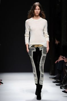 love the simple top with the fancy pants, Balmain