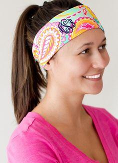 Summer Paisley Monogrammed Headband
