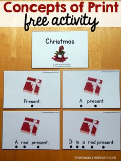 This Christmas concepts of print activity is perfect for pre-readers!