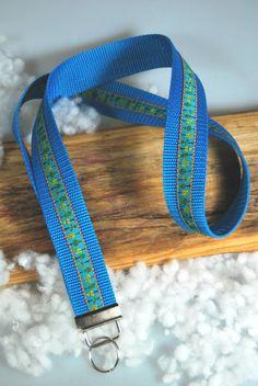 Schlüsselband+Bäume+blau+-+grün+von+DaiSign+auf+DaWanda.com  Schlüsselband Schlüsselanhänger Einschulung Einschulungsgeschenk Geschenk Geschenkidee blau Schlüssel Bäume