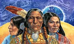 Gouache painting of a Native American by Geraldine Aikman: Ancestors I did this painting as a sample for a calendar for my portfolio. It depicts three generations of a family. Native American Artists, American Indians, Stock Art, Gouache Painting, Native Americans, Nativity, Calendar, Art Gallery, Fine Art