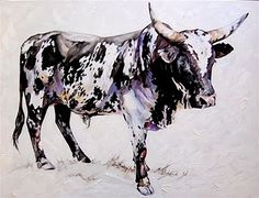 Terry Kobus produces a variety of styles and sized works each displaying fine craftsmanship and execution and is renowned for his exquisite. Zebu Cattle, Longhorn Cattle, Dairy Cattle, Animal Agriculture, Cow Painting, Work With Animals, Rind, My Animal, Pet Birds
