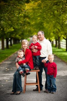 cute shot of grandparents with grandkids. would even be cute with parents.