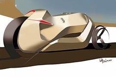 #sketch #design #concept #threewheeler #motorcycle #future #caferacer #honda #sculpture