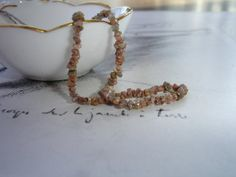 Natural Raw Chocolate Diamond Necklace Earthy by kalypsocreations, $145.00
