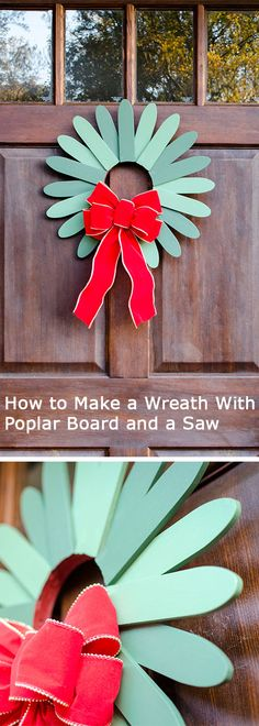 How to Make a #Wreath With Poplar Board and a Saw >> http://blog.diynetwork.com/tool-tips/2012/10/31/woodworking-project-traditional-holiday-wreath/?soc=pinterest-greatwreath